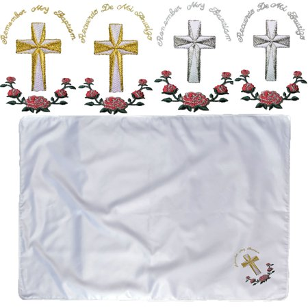 Baby Infant Christening Baptism White Swaddling Holy Blanket Gold Silver - Swaddle Outfit