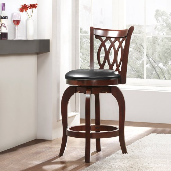 Shop Tribecca Home Decor Faux Alligator Print Dining Chair: Weston Home Campton 24 In. Swivel Motif Design Stool With