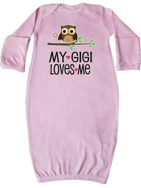 My Gigi Loves Me Girl Owl Newborn Layette Pink Newborn