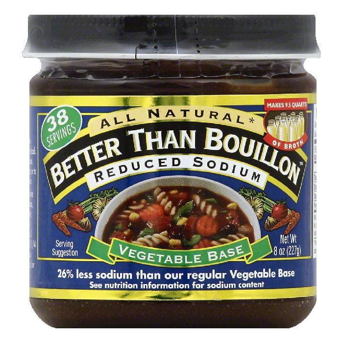 Better Than Bouillon Reduced Sodium Vegetable Base, 8 OZ (Pack of 6)