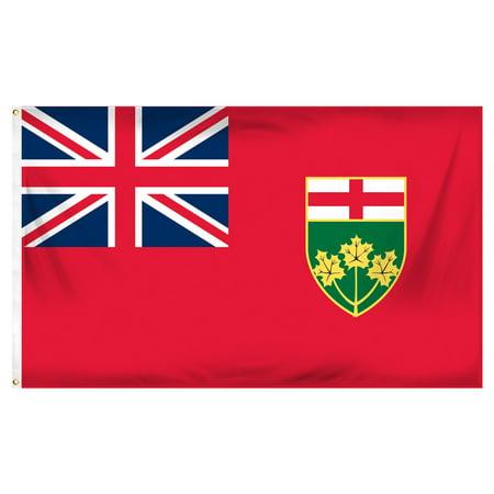 Ontario 3ft x 5ft Printed Polyester Flag (Halloween Stores Ontario)