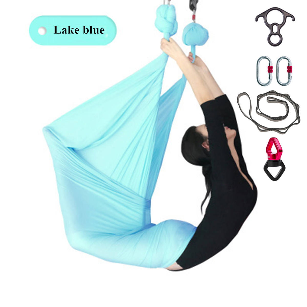 10 Yard Yoga Swing Hammock Strap Anti Gravity Inversion Trapeze Sling Aerial Pro
