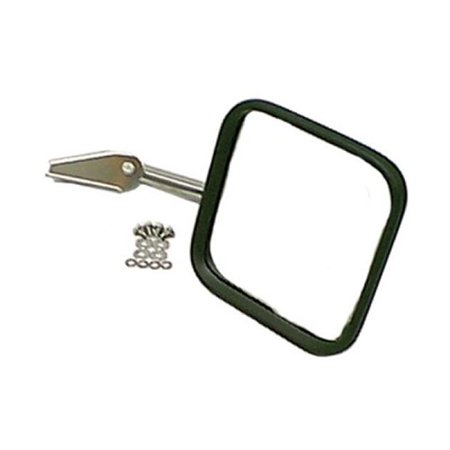 Rugged Ridge 110050.04 Mirror Head And Arm, Stainless Steel, Right Side, 55-86 Jeep CJ Models - image 1 de 1