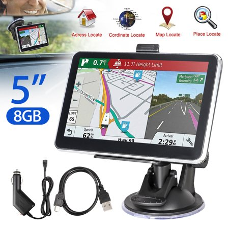 EEEkit Car GPS, 5 inches 8GB Navigation System for Cars Lifetime Map Updates Touch Screen Real Voice Direction Vehicle GPS Navigator
