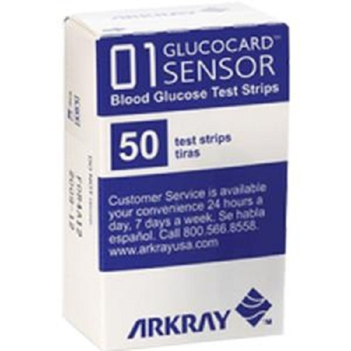 Glucocard Blood Glucose Test Strip (50 count)-1 Each
