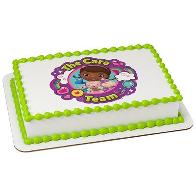 Doc McStuffins The Care TeamEdible Icing Image Cake Cupcake Party Topper For 6 Inch Round