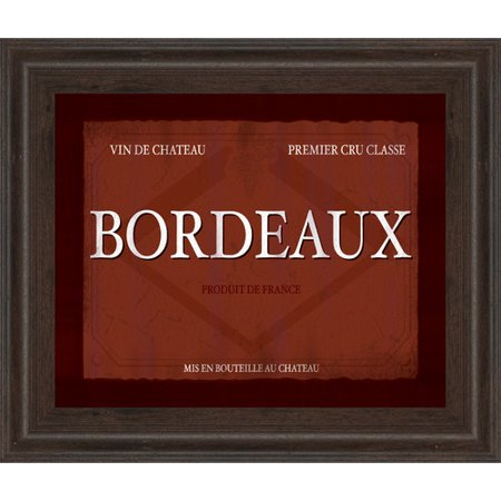 Classy Art Wholesalers Bordeaux by Paola Viveiros Framed Textual Art](Craft Wholesalers)