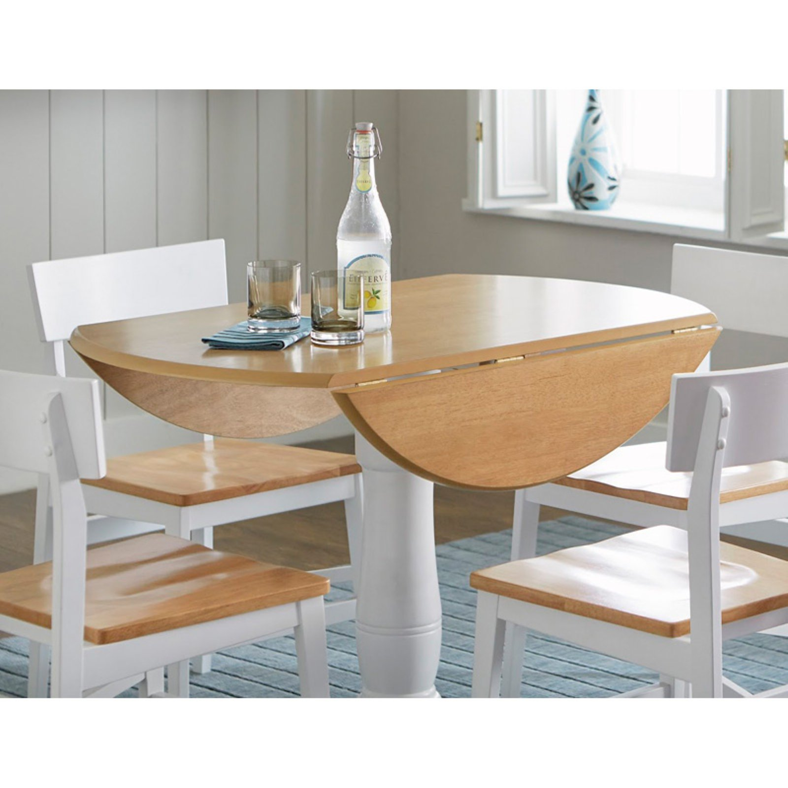 Progressive Furniture Christy Complete 40 In. Round Dining Table    Walmart.com