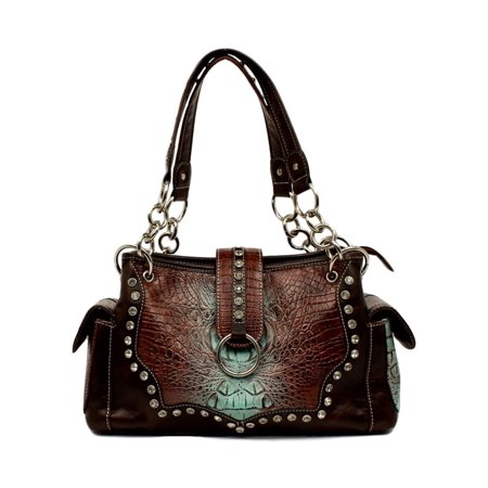 Blazin Roxx Western Handbag Womens Carmel Satchel Croco Tan N7596808