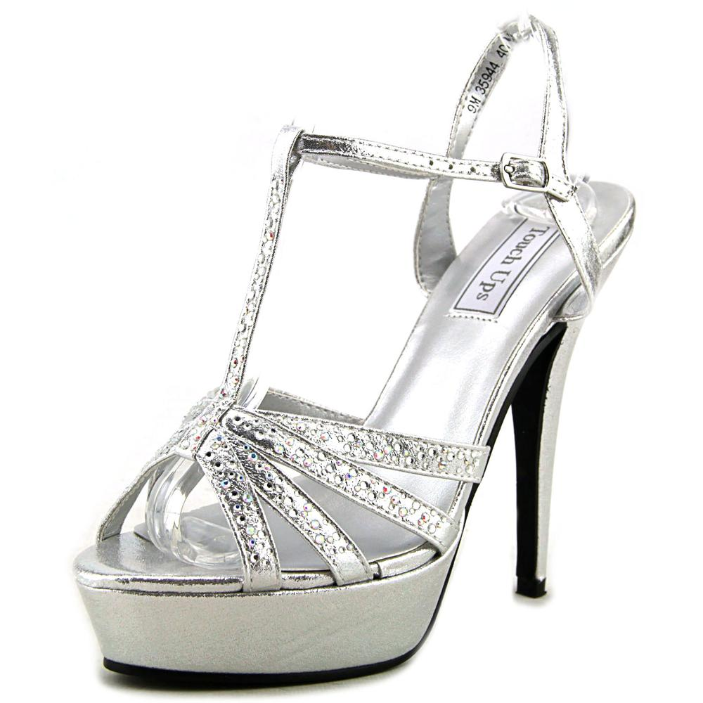 Touch Ups April Women Open Toe Synthetic Silver Platform Heel by Touch Ups