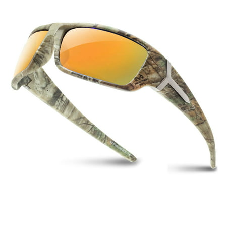 Camouflage Sunglasses (RealTree Xtra Camouflage Print Hunting Fishing Polarized Sport)