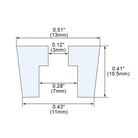 24pcs Tapered Rubber Feet Leg Pad Anti-scratch Floor Protector D13x11xH10.5mm - image 3 de 7