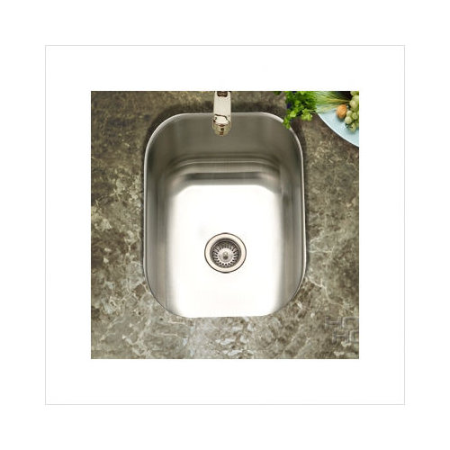 Bundle-69 Houzer Club Undermount Small Bar/Prep Sink in Satin (Set of 2)