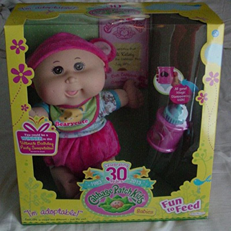 Cabbage Patch Kids Celebrating 30 Years Bald Baby Fun to Feed by