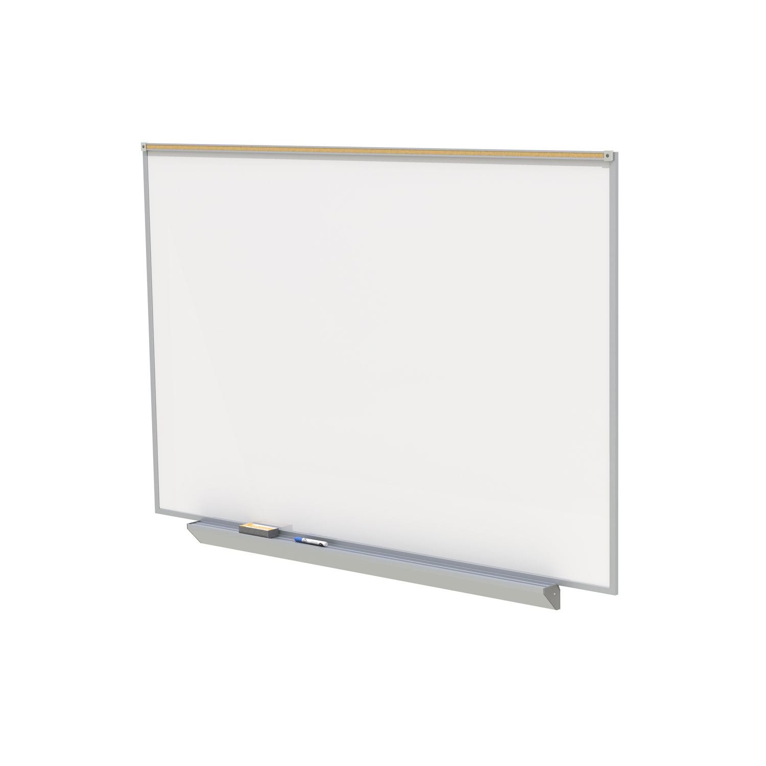 PRM1-34-4 Ghent Proma Magnetic Markerboard Porcelain Projection Whiteboard with Aluminum Frame, 3'H x 4'W