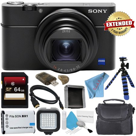 Sony Cyber-Shot Premium Compact DSC-RX100 VI + 64GB SDxC + 2 Year Extended Warranty Digital Camera (Sony Cyber Shot Rx100 Ii Best Price)