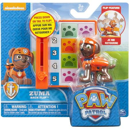 paw patrol action pack pup back flip zuma. Black Bedroom Furniture Sets. Home Design Ideas