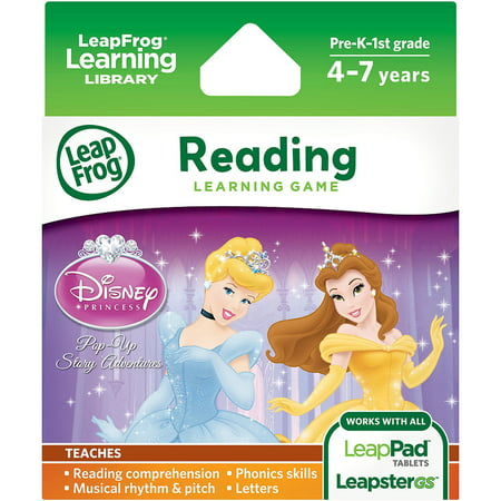 LeapFrog Explorer & LeapPad Learning Game: Disney Princess: Pop-Up Story (Leapfrog Learning Friends Preschool Adventures Learning Game)