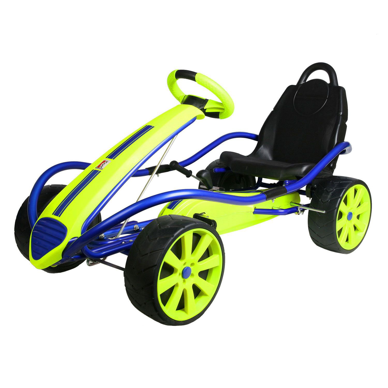 Kettler Sport Kid Racer Pedal Car Blue Yellow Walmart Com