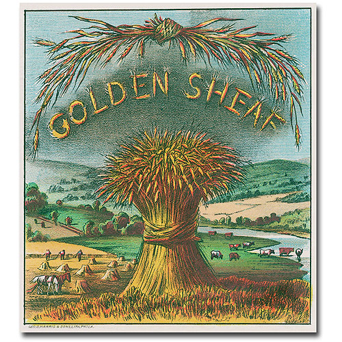 "Trademark Art ""Golden Sheaf Cigar Label"" Canvas Wall Art"