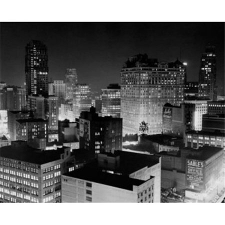 Posterazzi SAL25545924 Buildings Lit Up at Night Detroit Michigan USA Poster Print - 18 x 24 in. - image 1 of 1
