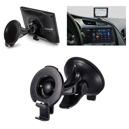 TSV Car Suction Cup Mount GPS Holder for GARMIN NUVI 2597 LMT 42 44 52 54 55 LM ()