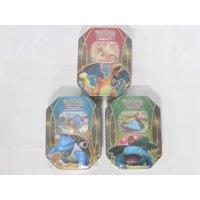 Pokemon EX Power Trio Tin Set of All 3 Pokemon Tins - Charizard EX Tin, Venusaur EX Tin & Blastoise EX Tin