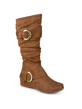 94145b3a6db6 Women s Buckle Accent Slouchy Mid-Calf Boots