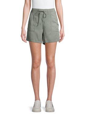 EV1 from Ellen DeGeneres Front Tie Pull-On Shorts Women's (Seaspray)