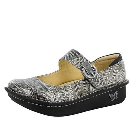 Alegria Shoes (Alegria Womens Paloma Chain Mail Platform Professional Slip Resistant Mary Janes)