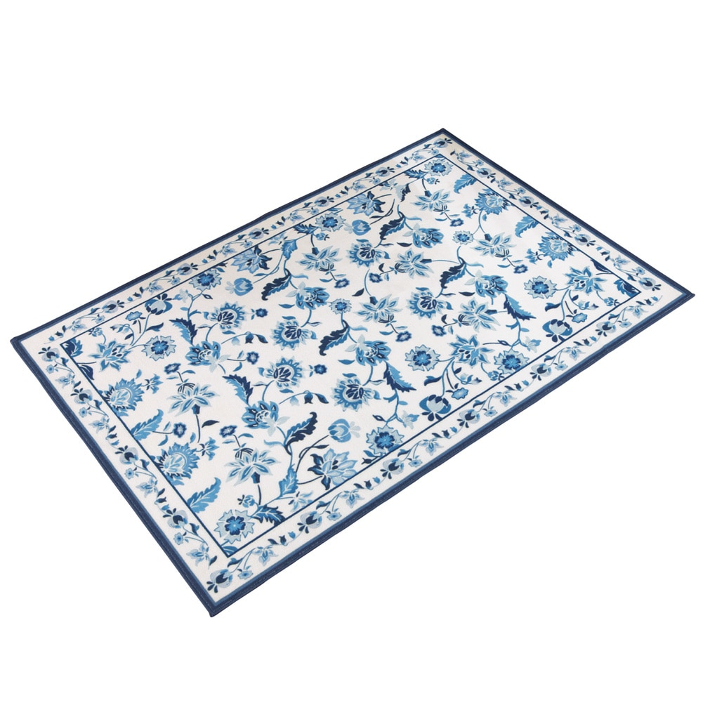 """Elegant Radley Floral Skid-Resistant Accent Rug, 22"""" X 60\ by Collections Etc"""