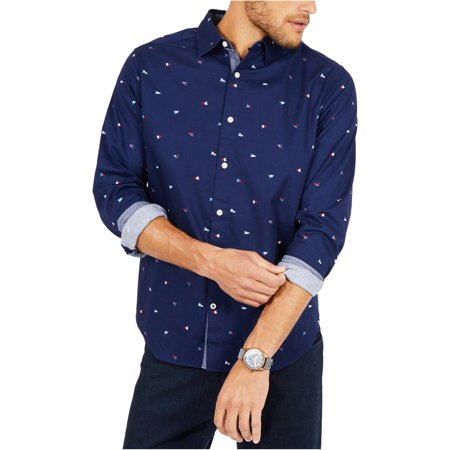 Nautica Mens Classic Fit Oxford Button Up Shirt Loose Fit Oxford