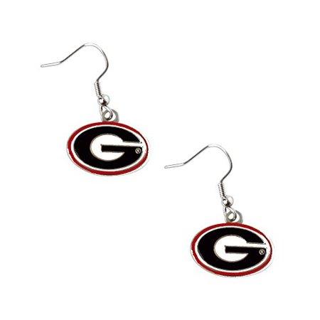 Georgia Bulldogs Dangle Logo Earring Set Ncaa Charm Gift (Georgia Bulldog Tattoos)