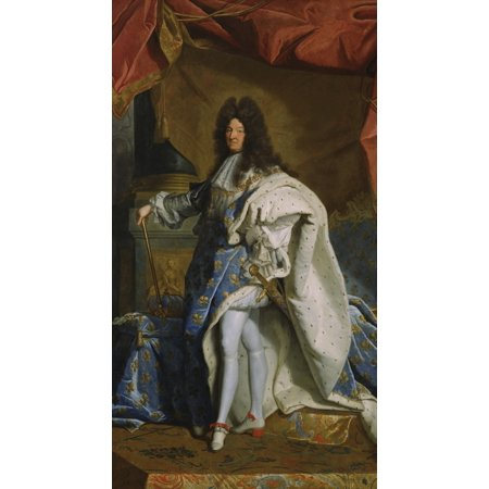 Portrait Of Louis Xiv By Hyacinthe Rigaud Studio 1701 French Painting Oil On Canvas This Is A Contemporary Copy Of The Original Portrait Of Louis Xiv Of 1701 Now In The Louvre Poster Print Contemporary Chinese Oil Painting
