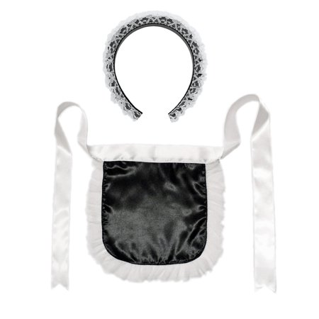 SeasonsTrading French Maid Headband & Apron Costume - French Fries Costume