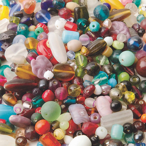 India Glass Bead Mix 1-Pound Bag