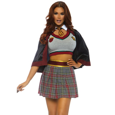 Leg Avenue Womens Spellbinding Magic School Girl Halloween Costume - Paper Magic Group Costumes