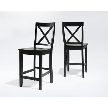 - Crosley Furniture X-Back Bar Stool with 24