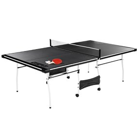 Md Sports Official Size Foldable Indoor Table Tennis Table With Paddle And Balls Bluewhite