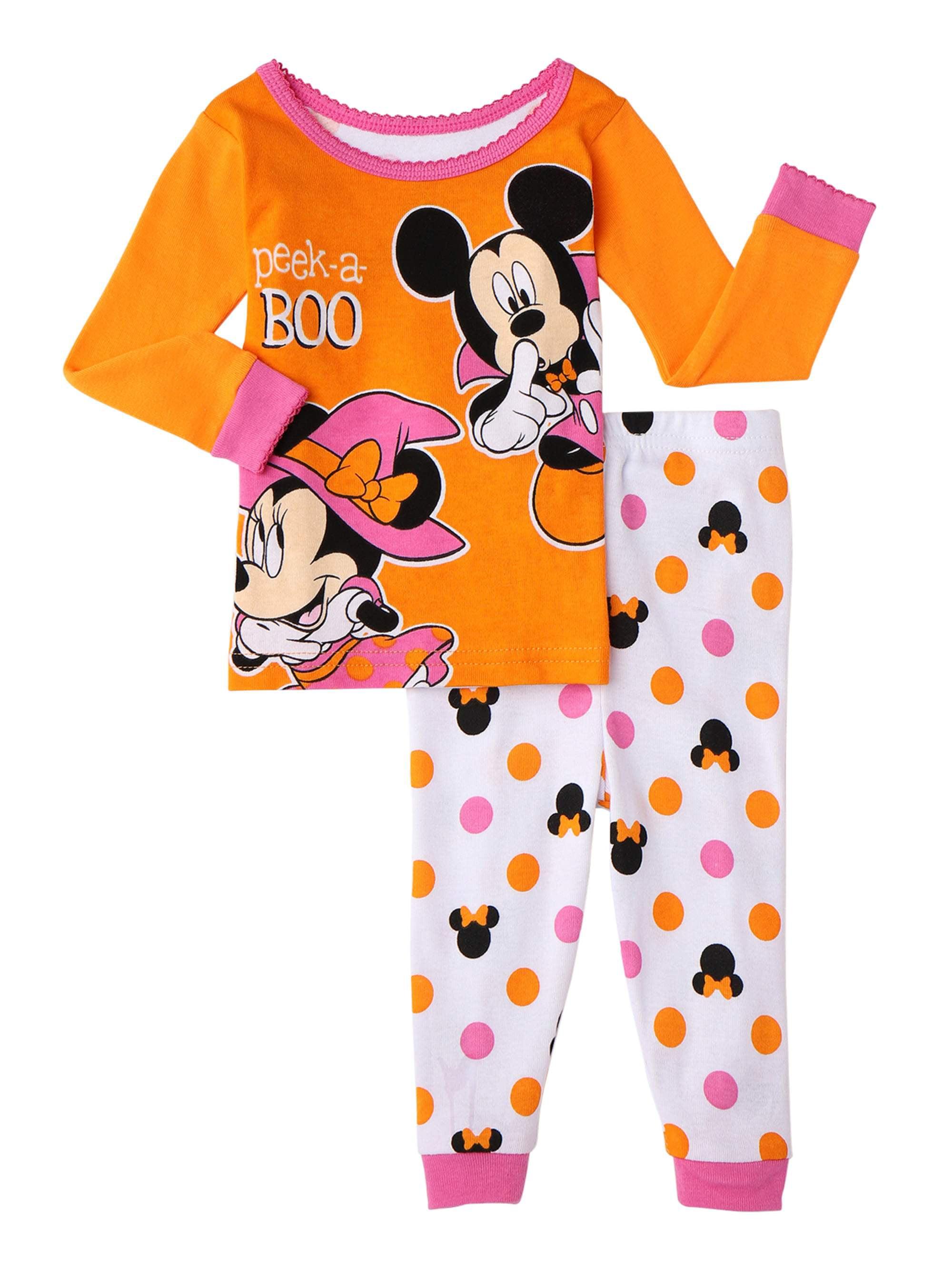 Seseme Street Peek A Boo Baby Girls 2 Piece Sleepwear Pajama Set