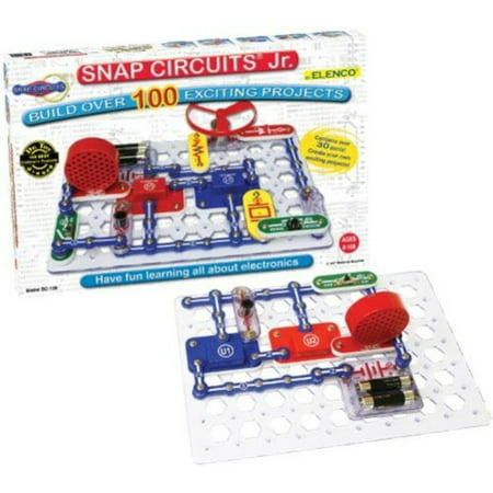 Snap Circuits Junior 100 Electronics Projects, 1 Each (Snap Electronics Kit)