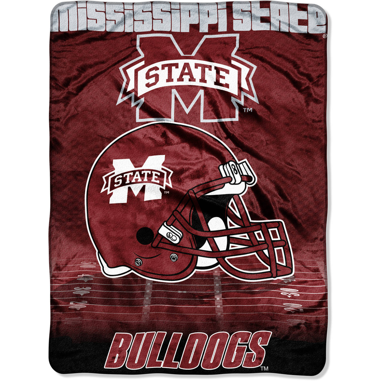 "NCAA Mississippi State Bulldogs 60"" x 80"" Oversized Micro Raschel Throw"