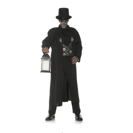 Early Mourning Coat Men's Adult Halloween Costume, One Size, (42-46) - Early Century Halloween