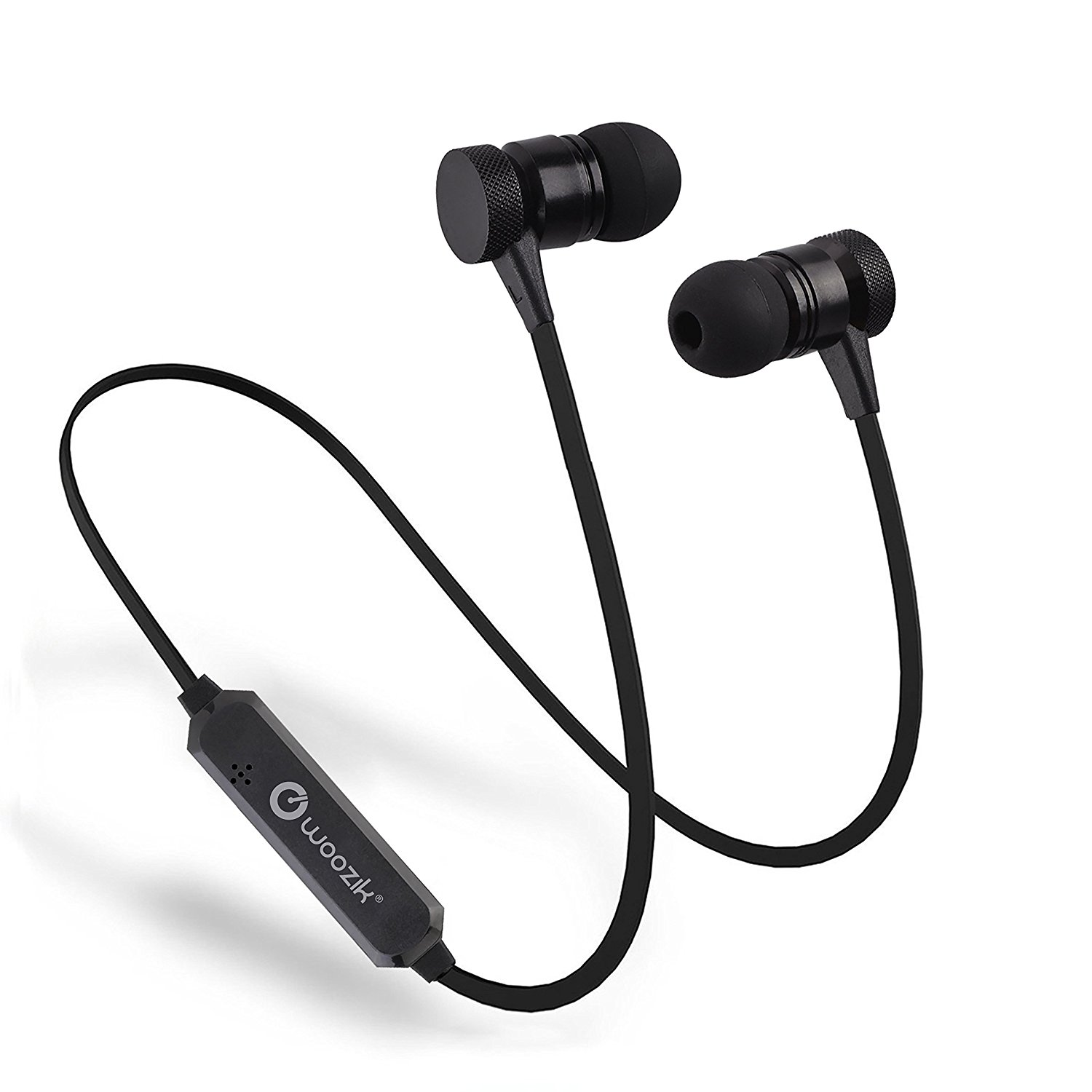 Woozik M900 Wireless Bluetooth 4.2 Sweat Resistant Magnetic Earbuds with Mic and Dual Pairing -Compatible with Apple, Samsung, and other devices!