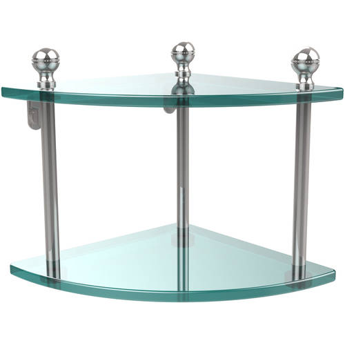 Mambo Collection 2 Tier Corner Glass Shelf (Build to Order)