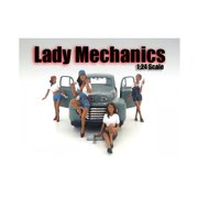 """Lady Mechanics"""" 4 Piece Figure Set For 1:24 Scale Models by American Diorama"""""""