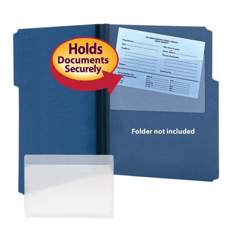 Smead Self-Adhesive Poly Pocket, Document Size 9