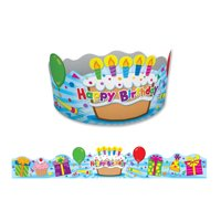 Carson-Dellosa CD-101021 Birthday Crowns, Pack of 30