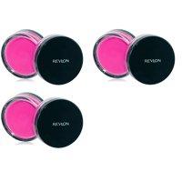 Revlon Photo Ready Cream Blush, Flushed, 0.4 Ounce (3 Pack) + Makeup Blender Stick, 12 Pcs