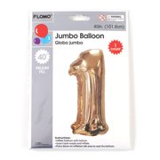 """40"""" Giant Mylar Metallic Gold Number Balloon One """"1"""" for Party"""